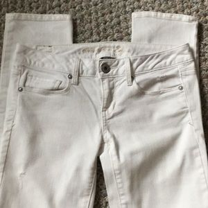 American Eagle distressed skinny jeans sz 0